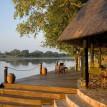Nkwali Camp Zambia river deck