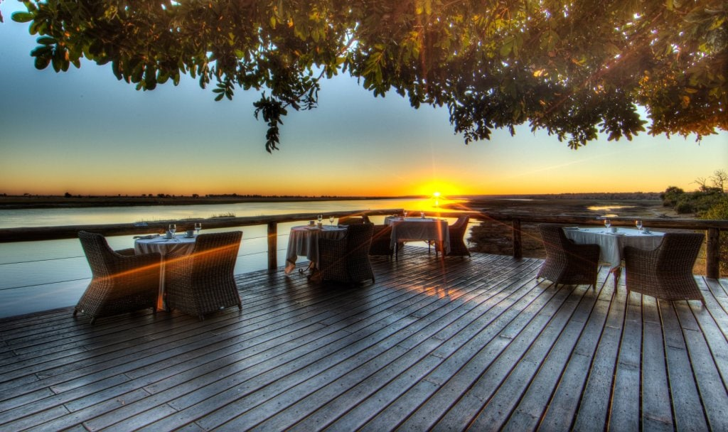 Botswana Safari at Chobe Game Lodge deck